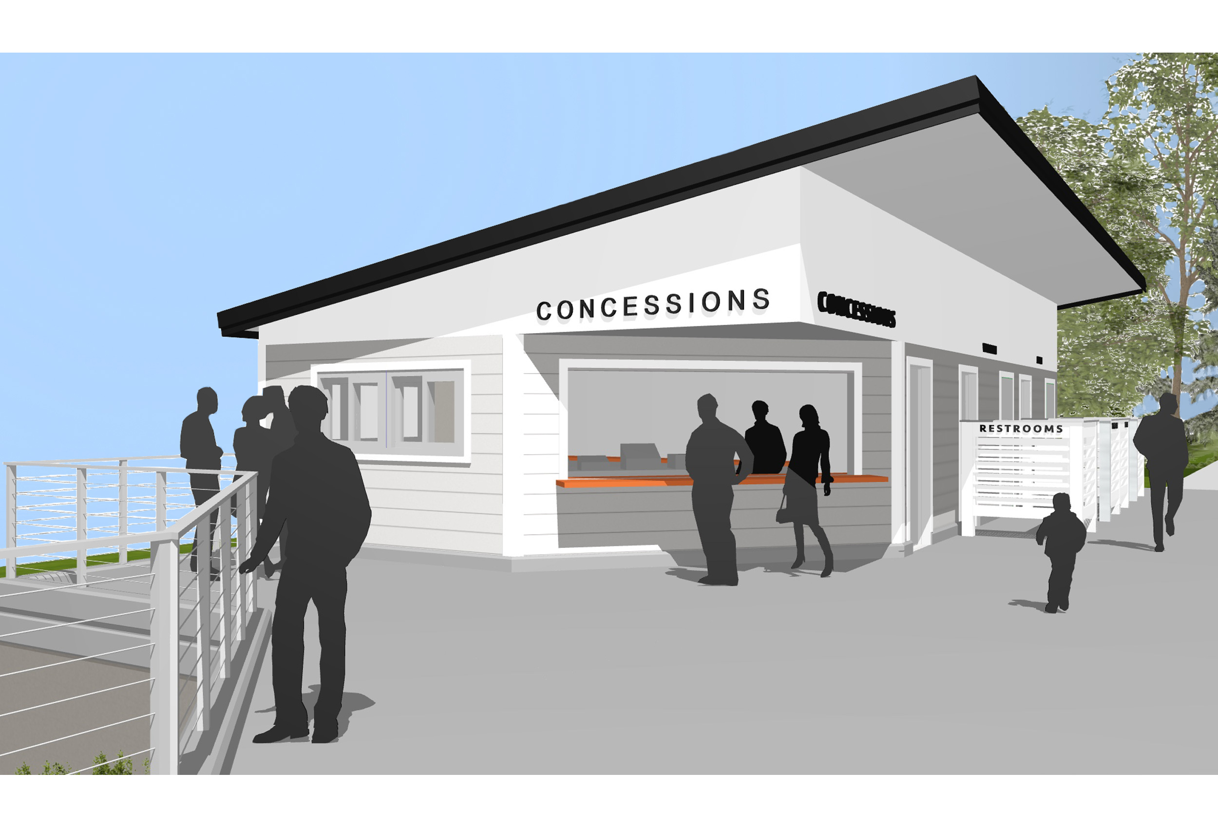 football concession and team rooms