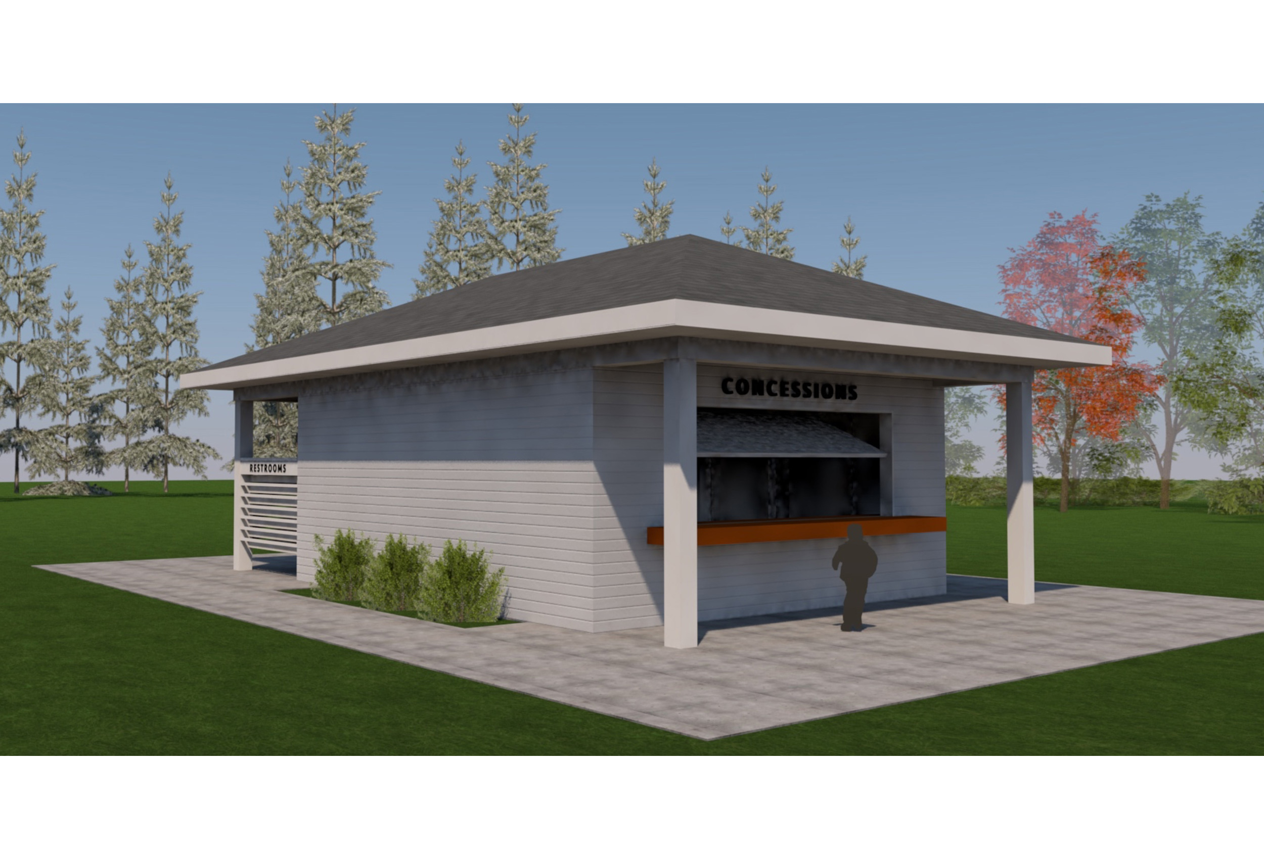 baseball concession building