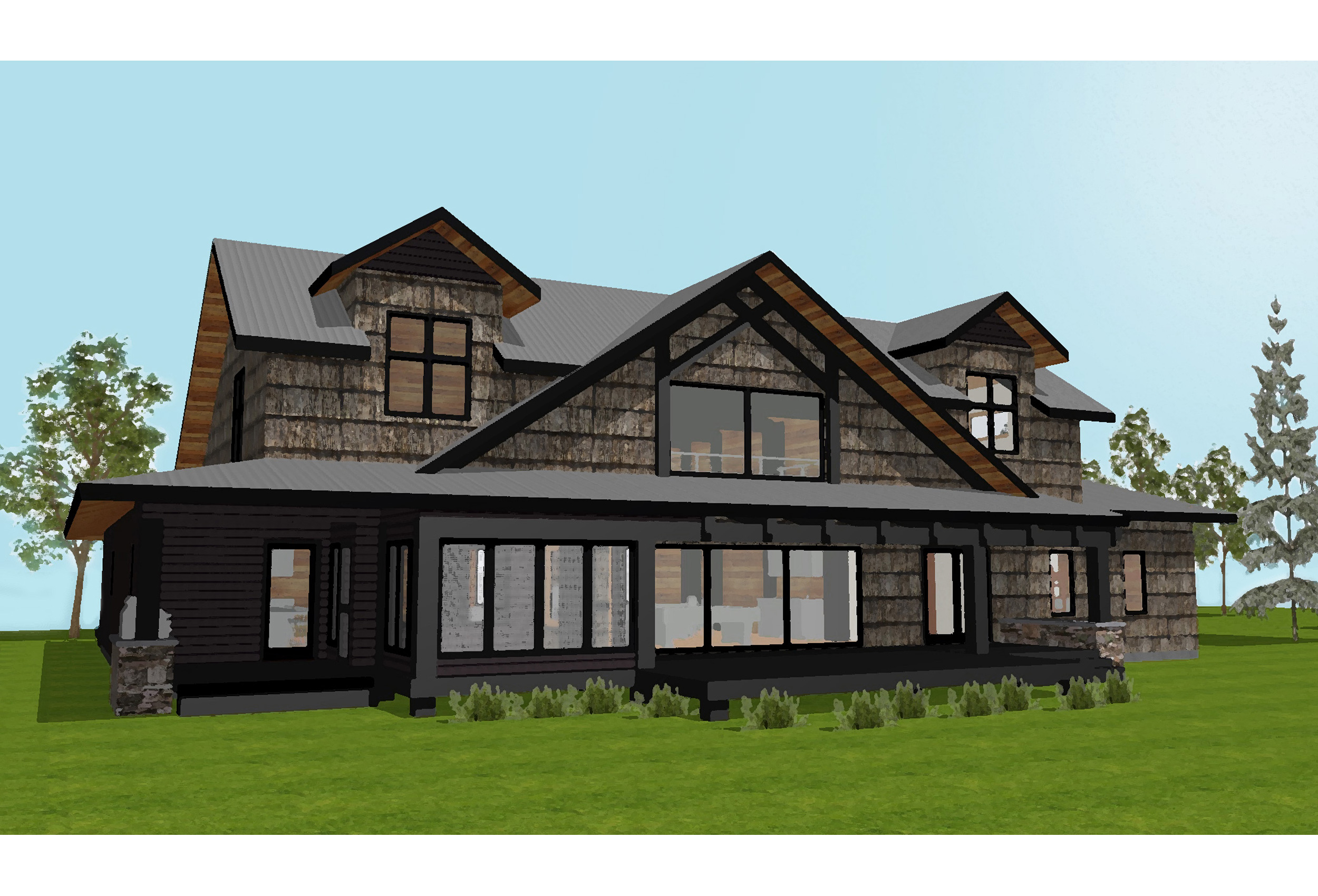 custom hunting lodge design